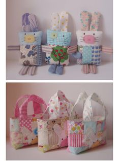 Possibly the cutest Easter bunny softies and totes ever. Designed and stitched by Rachel of Roxy Creations. See more–including the link to her Etsy shop–at her blog post. Ed. note: Rach…