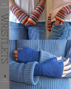 wristlets - 2 free crochet patterns.