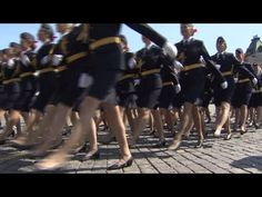 ▶ Heels Parade: Russian female police officers march on Red Square - YouTube