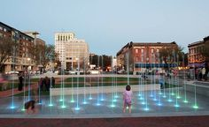 Buried under a parking garage for 50 years, Ellis Square was restored in 2010 as a sleek plaza with an interactive, kid-friendly fountain.  (Courtesy philmarq/Flickr) From: Charleston and Savannah.
