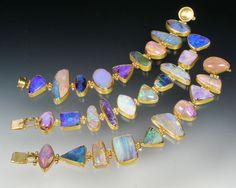 Sam Shaw Jewelry 22K gold opal bracelet
