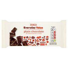 Tesco Everyday Value Plain Chocolate Bar 100G - Groceries - Tesco Groceries