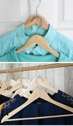 Use a Ring Pull as a Clothes Organizer   21 Life Hacks Every Girl Should Know…
