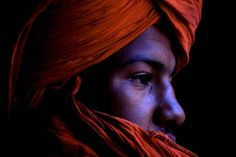 Olive skinned African man of Morocco with red turban. Moors المغرب (Morocco) by Andrea Loria, via Flickr