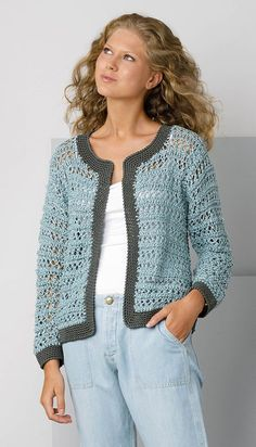 Easy Winter Crochet Cardigan and How To Make Patterns - Page 28 of 46 - crochet patterns, crochet patterns free, crochet patterns for beginners, knitting patterns, free crochet patterns Crochet Cardigan Pattern, Crochet Jacket, Crochet Blouse, Knit Crochet, Easy Crochet Shrug, Easy Knitting, Hand Knit Scarf, Poncho, Crochet Woman
