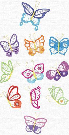 bordados descargar gratis hermosa mariposa entre las