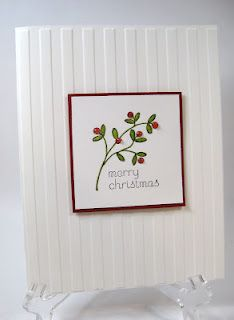 Clean & Simple Christmas card!
