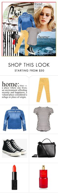 """""""Home and friend"""" by beograd-love ❤ liked on Polyvore featuring WALL, J Brand, Frame, Converse, NARS Cosmetics and Cartier"""