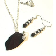My Black Swarovski Crystal Necklace perfectly matches the little black dress that's in your closet. The shiny jet Swarovski crystal has a sparkly flower bail.