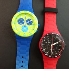 #Swatch BLUE RUG http://swat.ch/1nGVwgh & FIRE CORE http://swat.ch/1lQ53w5
