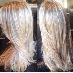 My longer blonde hair goal for wedding time
