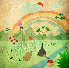 Sueños naturales  Pintura digital impresa sobre lienzo Edición limitada de 10 piezas
