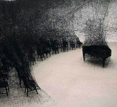 In Silence by Chiharu Shiota #silence #o|i