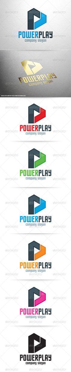 Power Play - Letter P Logo