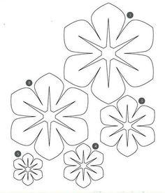 Flower Template to make hula leis Felt Flower Template, Felt Flower Tutorial, Giant Paper Flowers, Fabric Flowers, Felt Crafts, Paper Crafts, Diy Paper, Tissue Paper, Felt Flowers Patterns