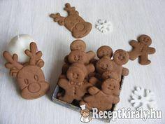 Karácsonyi kakaós-mézes keksz Christmas 2019, Christmas Diy, Christmas Decorations, Xmas, Holiday, Hungarian Cake, 1 Advent, Food Design, Cake Cookies