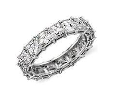 Asscher Eternity Diamond Ring in Platinum (5 ct. tw.) Ideal wedding band... I wish