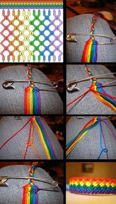 Diy Friendship Bracelets Patterns, Diy Bracelets Easy, Bracelet Crafts, Macrame Bracelets, Jewelry Crafts, Handmade Jewelry, Gold Bracelets, Diamond Earrings, Thread Bracelets