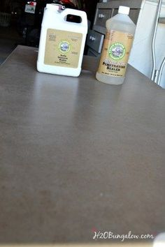 Remodeling Kitchen Countertops - Indepth DIY concrete countertop tutorial with a videoincluded, will prepare you to tackle your own DIY concrete countertop project with confidence. Polished Concrete Countertops, Concrete Sealer, Outdoor Kitchen Countertops, Kitchen Countertop Materials, Diy Countertops, Concrete Floors, Concrete Kitchen, Kitchen Counters, Concrete Furniture