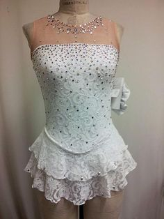 Del Arbour D47B-TR Beaded Skating Dress