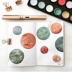 Just incredible galaxy inspired journal art from @emres_blog  - #stationery #stationeryaddict #plannerlove #washitape #study #studytime #illustration  #plannersupplies  #studymotivation #studyspo