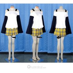 Rosario and Vampire Mizore Shirayuki Cosplay Costume ❤ liked on Polyvore featuring costumes, anime, cosplay, vampiress costume, star costume, role play costumes, blue costume and vampire halloween costumes