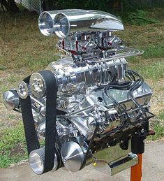 468 Blown Street Beast- 468 Blown Street Beast This big, beautiful blown and nitrous injected beast is going into a street driven Caddy Hearse. Art Steampunk, Chevy Motors, Automobile, Crate Engines, Performance Engines, Truck Engine, Motor Engine, Us Cars, Drag Cars