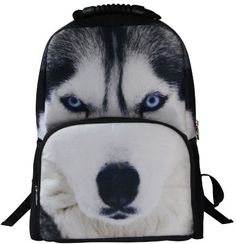 Animal FaceTM Animals Wolf Husky Backpack Deep Stereographic Felt Fabric ** Learn more by visiting the image link. Best Kids Backpacks, Animal Print Backpacks, Wolf Husky, Wolf Face, Shirts For Teens, Animal Faces, Felt Fabric, Travel Style, Dogs