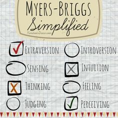 A Simplified Overview of the Myers-Briggs Type Indicator /  @KindredGrace