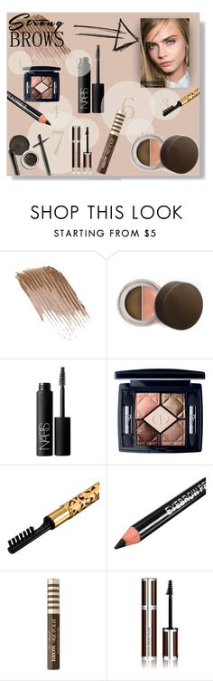 """Strong Brows"" by zoey-berry ❤ liked on Polyvore featuring beauty, Becca, NARS Cosmetics, Christian Dior, Too Faced Cosmetics, ELF Cosmetics and Givenchy"