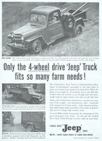 Willys 4-Wheel Drive Jeep Truck 1955 Ad Picture