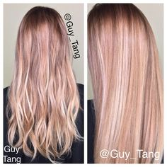 Pearl blonde balayage by Guy Tang