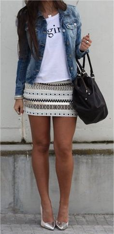 trendy how to wear denim jacket winter blazers Pretty Outfits, Cool Outfits, Summer Outfits, Casual Outfits, Fashion Outfits, Womens Fashion, Skirt Fashion, Fashion Ideas, How To Wear Denim Jacket