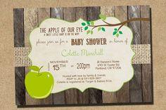 Apple of My Eye  Baby Shower Invitation Digital by RockStarPress