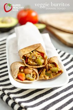 Veggie Burritos: Dinner-To-Go