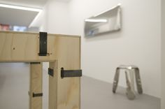 RUTTKOWSKI;68 Gallery, Köln. #TAFLA MIRROR https://shop.zieta.pl/pl,p,1,1,plopp_standard_stolek.html  #PLOPP STOOL https://shop.zieta.pl/pl,p,1,1,plopp_standard_stolek.html  #PAKIET TABLE