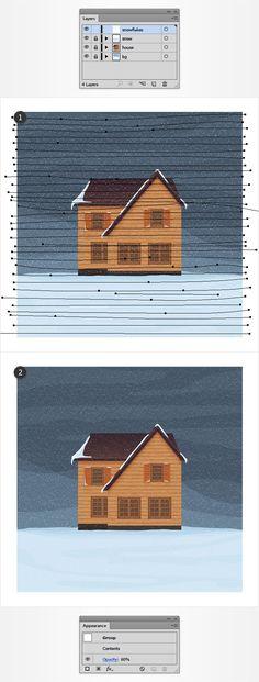 Create a Winter House Illustration in Adobe Illustrator