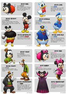 Disney Pokemon evolutions