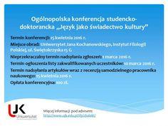 """Ogólnopolska konferencja studencko-doktorancka """"Język jako świadectwo kultury"""