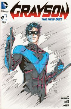 Nightwing by DeanDraws on Etsy