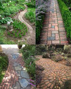 Как и из чего сделать дорожки на даче дешево: 11 вариантов дизайна дачных дорожек. | Красивый Дом и Сад Paths, Sidewalk, Garden, Design, House, Garten, Home, Side Walkway, Lawn And Garden