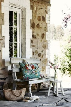that cushion! photograph by Sharyn Cairns for Country Style