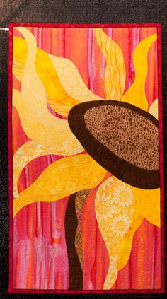 Sunflower, seen at Grand Rapids Quilt Show 2010, machine quilting workshop