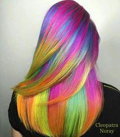 Kleurrijk kapsel