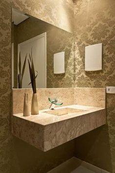 cuba esculpida banheiro mármore travertino 80x50