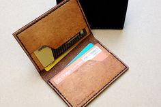 Sexy and practical! Handmade Leather Card Wallet on Etsy, $109.00 AUD