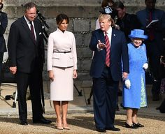 Queen Elizabeth II welcomed President Trump and Melania Trump