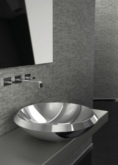 Modern Small Stainless Steel Bathroom Sink , The Elegant And Minimalist Look Of Small Stainless Steel Bathroom Sinks For Contemporary Impressive Bathroom Appliances In Bathroom Category Modern Bathroom Sink, Minimal Bathroom, Modern Sink, Vessel Sink Bathroom, Bathrooms, Small Stainless Steel Sink, Stainless Steel Countertops, Stone Countertops, Glass Design