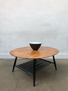 A really beautiful Ercol coffee table with magazine rack underneath. This is the largest coffee table that Ercol make. Ercol Coffee Table, Large Coffee Tables, Teak Table, Ercol Furniture, Magazine Table, Boho Chic Living Room, Small Tiles, Mid Century Furniture, My Dream Home