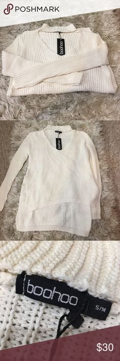 Choker Sweater super cute high low sweater with a choker neck! no trades & no defects! says S/M but fits XS/S (not LF) LF Sweaters